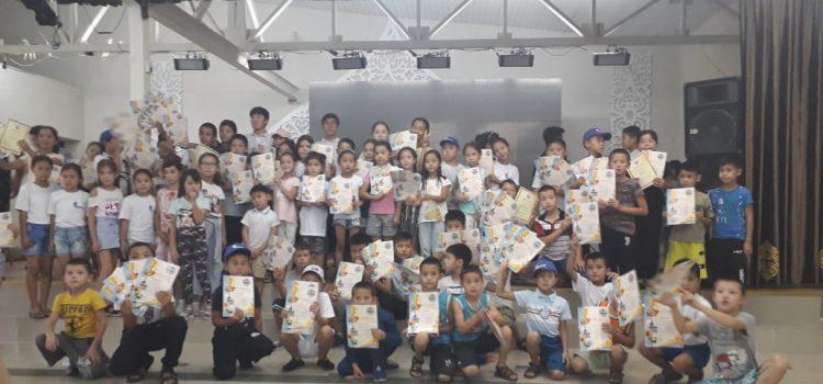 Церемония награждения детей из города Арысь
