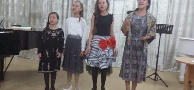 В отделе классической музыки Дворца школьников прошёл вечер вокальной музыки посвящённый 220-летию А.С. Пушкина.